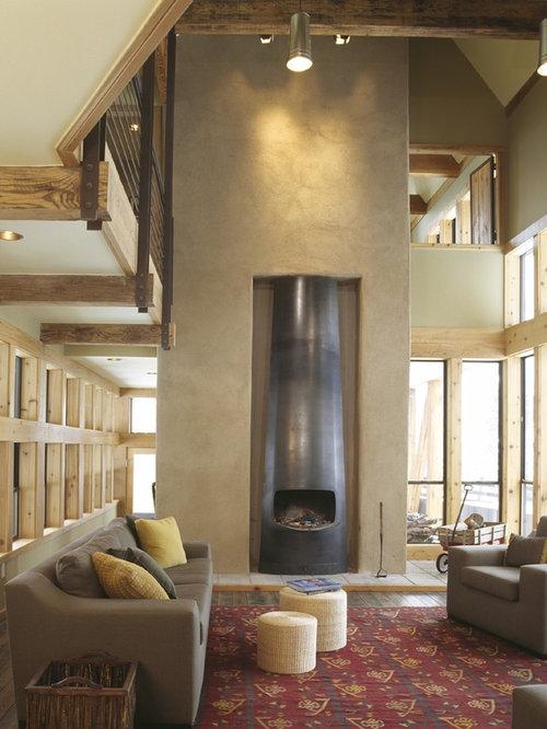 Venetian Plaster Fireplace