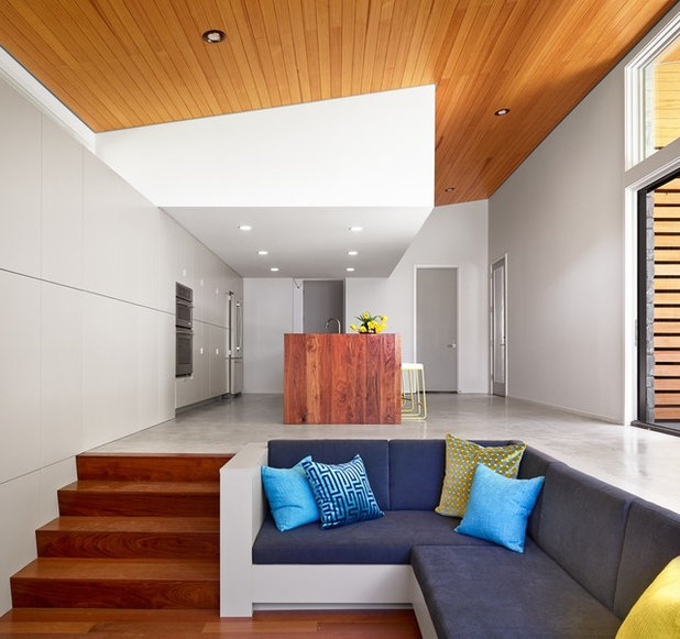 Sunken Living Room Houzz: The Lure Of Custom-Built Couches
