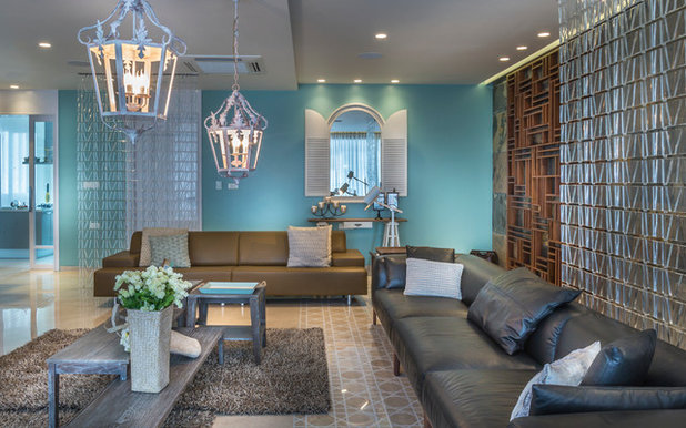 Houzz tour contemporary meets classical in this hyderabad for Living room 10x10