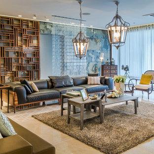 Esempio di un grande soggiorno design
