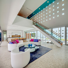 Contemporary Living Room by Guy Peterson Office for Architecture