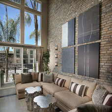 Contemporary Living Room by Coronado Stone Products