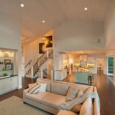 Contemporary Living Room by Sticks and Stones Design Group inc.