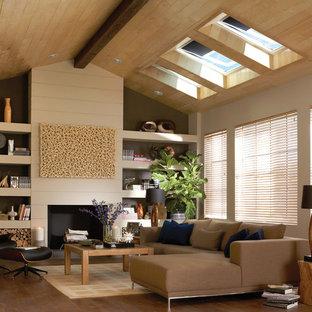 Living room - contemporary living room idea in Charlotte