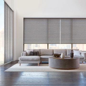 Skyline® Gliding Window Panels & Roller Shade