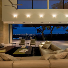 Contemporary Living Room by Jon Luce Builder