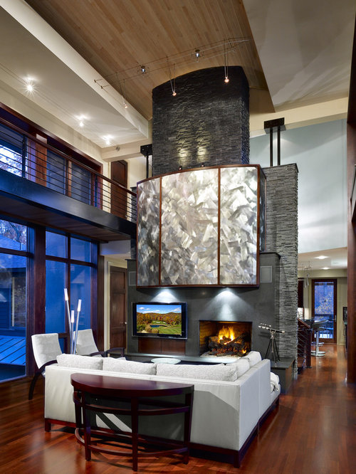 Living Room Feature Wall Design: Fireplace Feature Wall Ideas, Pictures, Remodel And Decor