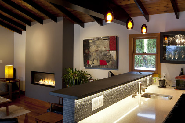 Modern Living Room by LOTOS Construction