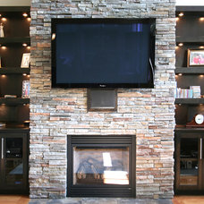 Contemporary Living Room by Walker Woodworking