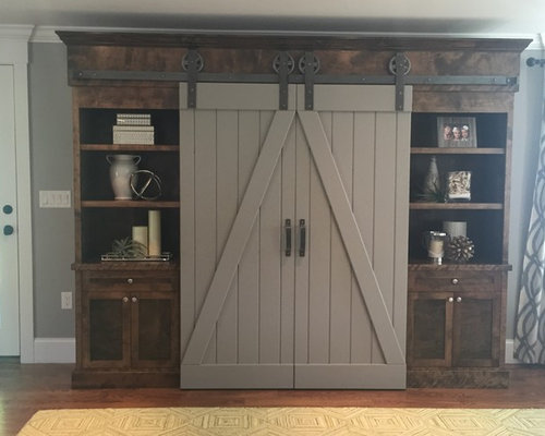 Sliding Barn Door Home Media Center