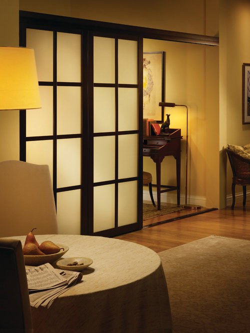 Sliding room divider ideas pictures remodel and decor - Room partitions with door ...