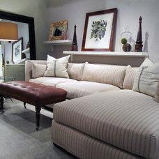 Transitional Living Room by Quatrine Custom Furniture