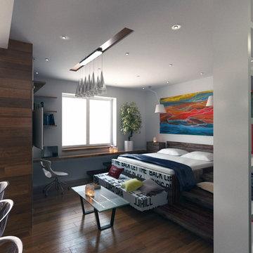 Small apartment (studio) interior design