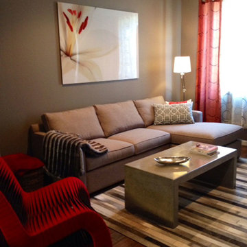Small Budget Town Home :: Living Room