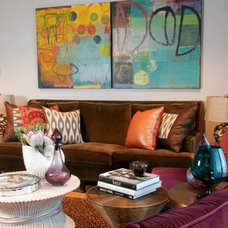 Eclectic Living Room by michelle williams interiors