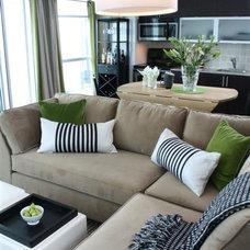 Contemporary Living Room by Jo Alcorn