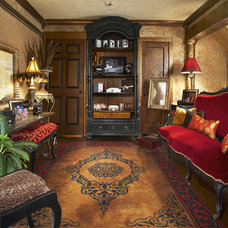 Eclectic Living Room by Grace Designs Dallas