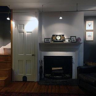 Inspiration for a timeless living room remodel in Philadelphia