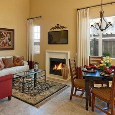Transitional Living Room by Borden Interiors & Associates