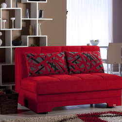 Small Spaces - Twist Love Seat Sleeper with Storage