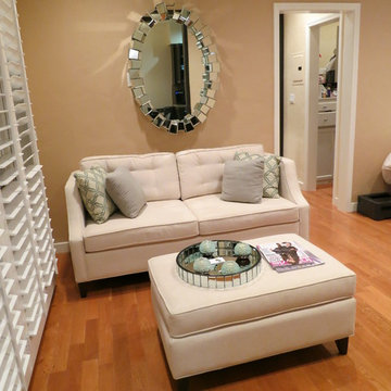 Small Spaces - Sofa Couch Ottoman - Contemporary Living Room - The Sofa Company
