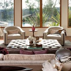 Contemporary Living Room by Lori Gentile Interior Design