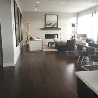 Smoky Grey Hardwood Floor - Living Room