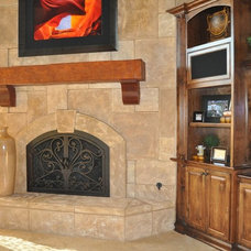 Traditional Living Room by AMS Fireplace, Inc.