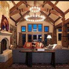Contemporary Living Room by Schmitt Custom Furniture