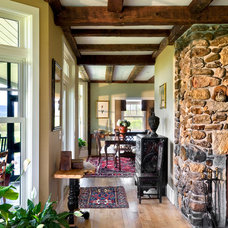 Farmhouse Living Room by Whitten Architects