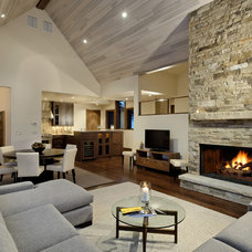 Rustic Living Room by ma2 architects