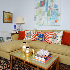 Eclectic Living Room by Kelly Nelson Designs