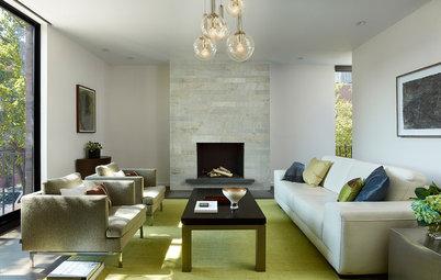 Elige verdes y grises para darle a tu salón frescura y elegancia