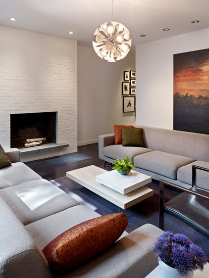 Contemporary Living Room by k YODER design, LLC