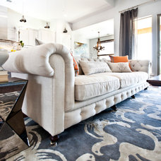 Contemporary Living Room by Kerrie L. Kelly