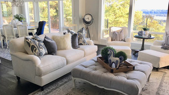 Soft whites, grays and blues for a feeling of quiet serenity