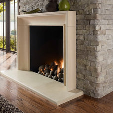 Contemporary Fireplaces by Rustic Brick and Stone
