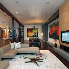 Contemporary Living Room by Jae Chang