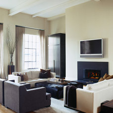 Contemporary Living Room by interieurs by Francine Gardner