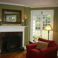 Farmhouse Living Room by Diane Stein for Ethan Allen Chadds Ford, PA.