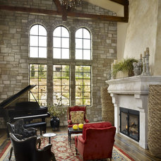 Traditional Living Room by MQ Architecture & Design, LLC