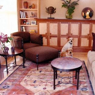 Foto på ett vintage vardagsrum