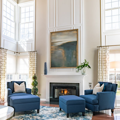 Living room - living room idea in Philadelphia with a standard fireplace
