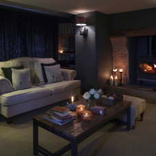 Farmhouse Family Room by Inspired Design Ltd