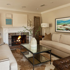 Traditional Living Room by Denise Morrison Interiors