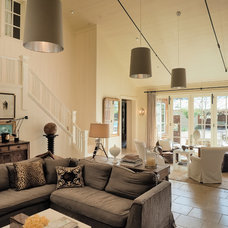 Farmhouse Living Room by C Curry Design