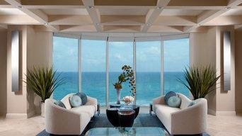 Sophisticated Contemporary ocean side condominium