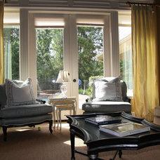 Traditional Living Room by Melanie King Designs