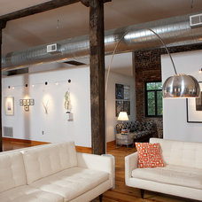 Industrial Living Room by Studio Durham Architects