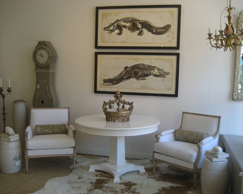 Shabby Chic Style New Orleans Living Room Design Ideas Remodels Photos Houzz